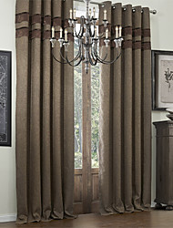 TWOPAGES® Two Panels  Bamboo Fiber Classic Faux Room Darkening Curtain