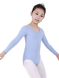 Dancewear spandex manga larga leotardos de ballet para los niños