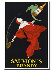 Printed Canvas Art Vintage Sauvion's Brandy by Vintage Posters with Stretched Frame