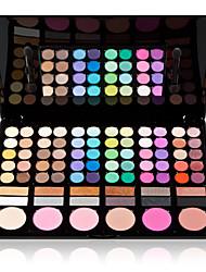78 Lidschattenpalette Matt / Schimmer Lidschatten-Palette Puder GroßAlltag Make-up / Party Make-up / Halloween Make-up / Smokey Makeup /