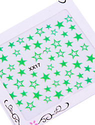 5PCS 3D Star Nail Art Stickers n ° 3 (couleurs assorties)
