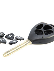 4-Button Remote Key Casing for Toyota