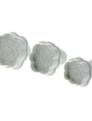 Выросли форме резак печенья с поршнем (3шт)