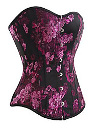 Black and Purple Floral Gothic Lolita Corset