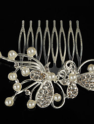 Gorgeous Alloy / Imitation Pearl With Rhinestones Combs/ Headpiece