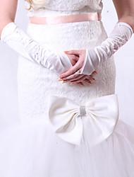 Elbow Length Fingerless Glove Satin Bridal Gloves/Party/ Evening Gloves