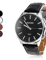 Men's Analog Quartz PU Wrist Watch (Assorted Colors) Cool Watch Unique Watch