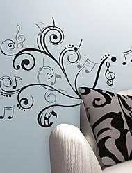 Музыкальные ноты Выделите стикер стены