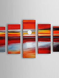 Hand Painted Oil Painting Landscape Sea with Stretched Frame Set of 5 1306-LS0315