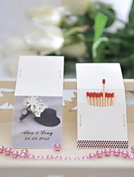 Wedding Décor Personalized Matchbooks - Hat (Set of 50)