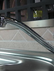 Contemporary Chrome Finish Cold and Hot Water Kitchen Faucet