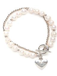 Perlen-Strang-Herz-Armband