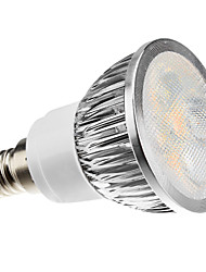 3W E14 Focos LED MR16 4 LED de Alta Potencia 260-300 lm Blanco Cálido Regulable AC 100-240 V