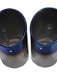 Silenciador del acero inoxidable para el Audi A6 Tubo de escape (diámetro 85mm-interior) LMC-M-058 (2 Piezas)