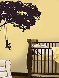 Kids in Tree Swing Wall Sticker