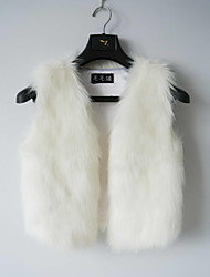Fur Vest With Nice Collarless In Faux Fur Casual/Party Vest(More Colors)