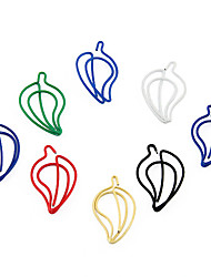 Cute Hot Pepper Shape Metal Paper Clips (10PCS Random Color)