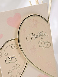 Pretty Heart Design Wedding Invitation (Set of 50)