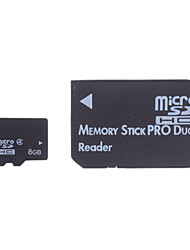 8GB Micro SD/TF SDHC Memory Card and Micro SD SDHC to MS Adapter
