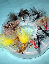 Homa Wet moscas da pesca gancho Packs Lure (2pcs * 8)
