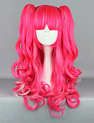 Lolita Wigs Punk Lolita Lolita Long / Curly Pink Lolita Wig 65 CM Cosplay Wigs Solid Wig For Women