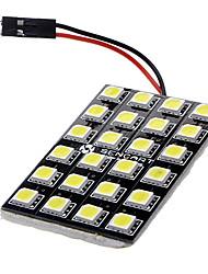 BA9S/Festoon/T10 12W 24x5060SMD 900-1000LM 6000-6500K lumière blanche LED lampe de voiture (12V DC)