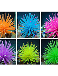 rubber kunstmatige zacht koraal decoratie voor aquarium aquarium (verschillende kleuren)