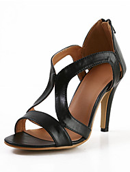Fashion Leatherette Stiletto Heel Sandals with Zipper Party\Casual Shoes(More Colors)