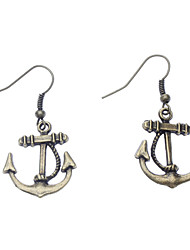 Ship Anchor Metal Earring