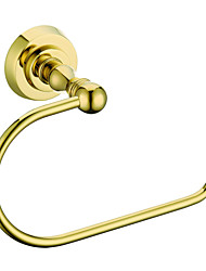 Contemporary Ti-PVD Wall-mounted Towel Ring