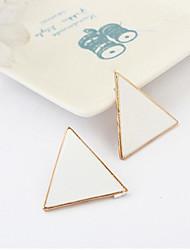 Banhado a ouro de liga de acrílico Triângulo padrão brincos