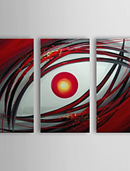 Hand Painted Oil Painting Abstract An Eye with Stretched Frame Set of 3 1307-AB0386