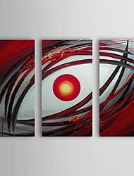 handgeschilderde olieverf abstract oog met gestrekte frame set van 3 1307-ab0386