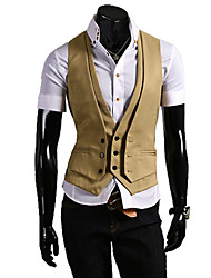 Men's Two Piece Like Slim Vest