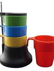 Stacking Colorful Tea Coffee Cups Set