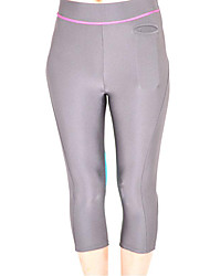 Gray und Sky Blue Spandex Nylon Übung Capri Pants