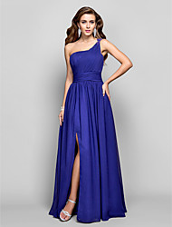 Formal Evening/Military Ball Dress - Regency Plus Sizes Sheath/Column One Shoulder Floor-length Chiffon