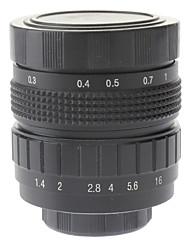 """50mm F1.4 CCTV Lens op Micro 2/3 """"C (zwart)"""