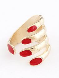 Fashion Alloy Fingernagel Shaped Ring der Frauen