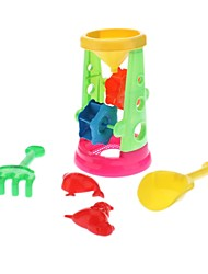 4-em-1 Plastic Toy Truck Praia Sandglasses do Kid