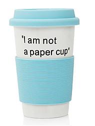 """380ml """"eu não sou um copo de papel"""" caneca do copo de cerâmica"""