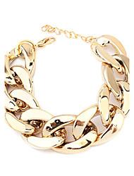 Damen Ketten- & Glieder-Armbänder Acryl Schwarz Silber Golden Schmuck Für Party Alltag Weihnachts Geschenke 1 Stück