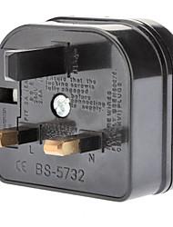 UK zu EU AC Power Adapter Schwarz
