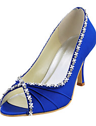 Women's Wedding Shoes Peep Toe Heels Wedding Blue/Red/Ivory/White/Gold