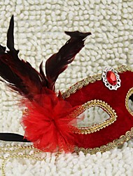 Deluxe plume de fleur de masque de mardi gras