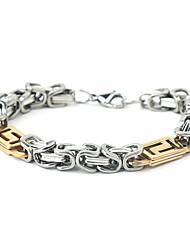 Eruner®Exquisite Titanium Steel Twisted Pattern Golden Hand-Made Bracelet