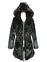 Long Sleeve Hood Faux Fur Casual/Party Coat(More Colors)