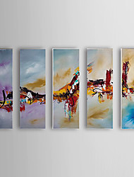 Hand Painted Oil Painting Abstract Set of 5 1307-AB0508