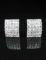 Elegant Alloy Crystal Earrings