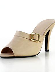 Fabuleux similicuir talon aiguille sandales avec boucle Casual Shoes (plus de couleurs)